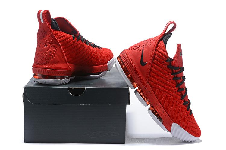 check out bb086 9d08e Nike LeBron 16 Red/Black Men's Basketball Shoes NIKE-ST004175