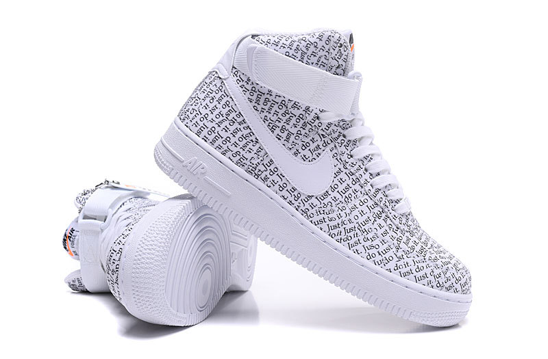 Nike Air Force 1 High LX JUST DO IT White Black Total Orange AO5138 100 Women's Men's Casual Shoes Sneakers AO5138 100