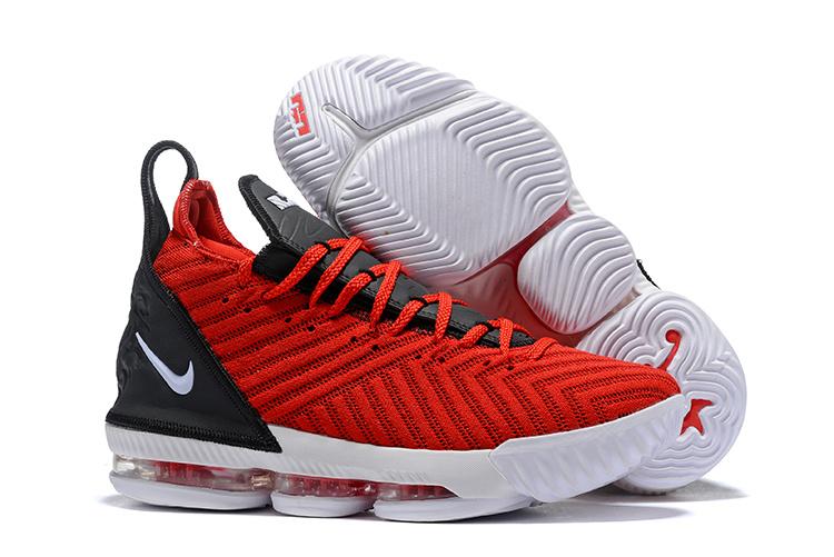 100% authentic 92d45 2b40b Nike LeBron 16 RED WHITE BLACK Men's Basketball Shoes NIKE-ST004172