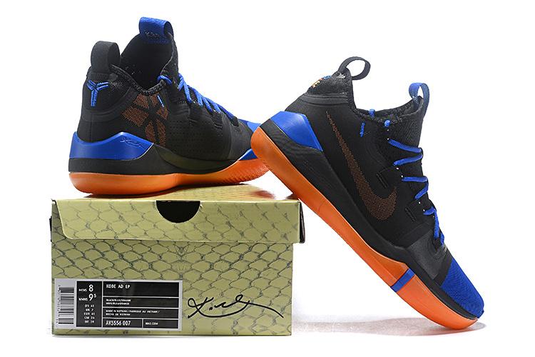 huge discount 872f7 faf96 Nike Kobe AD Exodus Black Blue Orange AV3556 007 Men's Basketball Shoes  AV3556-007