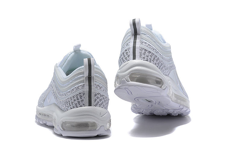 0a40c99c7d9 Nike Air Max 97 Just Do It White Black AT8437 100 Men s Casual Shoes ...