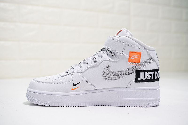 huge selection of 6690a 15035 Just do it Nike Air Force 1 Mid White Black Orange AQ8650-100 Women's Men's  Casual Shoes Sneakers AQ8650-100A