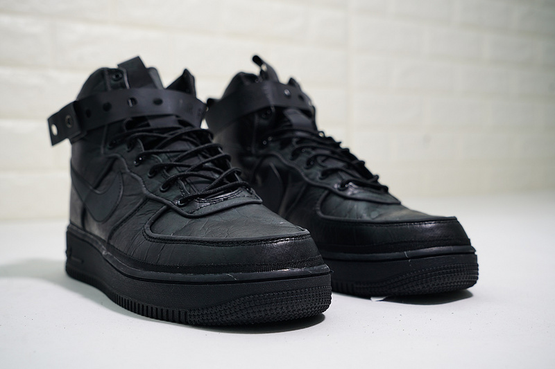 detailed pictures 977f5 193a2 Magic Stick x Nike Air Force 1 High VIP Triple Black Men's Casual Shoes  Sneakers NIKE-ST004460