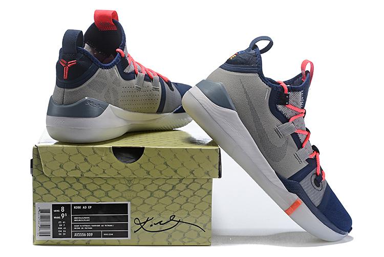 new style e0b81 6fcaa Nike Kobe AD Exodus Wolf Grey Navy Blue Crimson AV3556 006 Men's Basketball  Shoes AV3556-006A