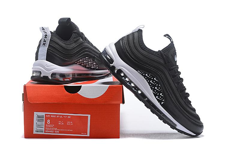 c3e448cf9788d Men s Nike Air Max 97 Ultra SE Just Do It Black White Casual Shoes ...