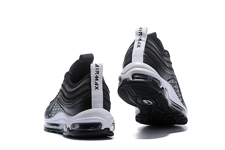 Men s Nike Air Max 97 Ultra SE Just Do It Black White Casual Shoes Sneakers 63fb6351f