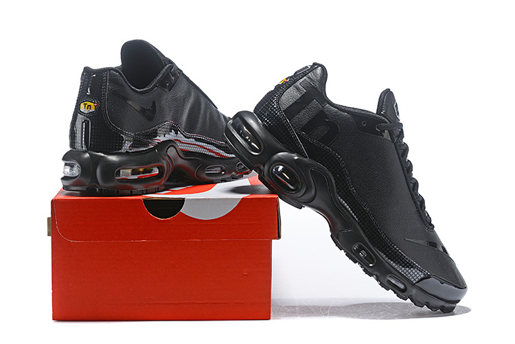 67398b0381ec Nike Air Max Plus Mercurial TN Triple Black Men s Running Shoes NIKE ...