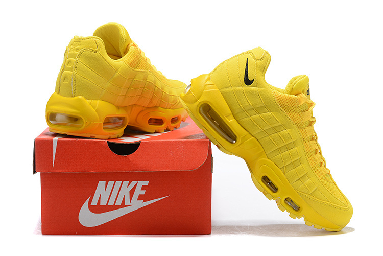 meet 35fbb 94160 Nike Air Max 95 Triple Yellow Black Women s Casual Shoes