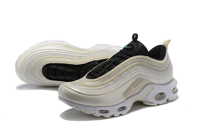 d9c3a8fef2 Nike Air Max 97 Plus TN Light Orewood Brown Rattan Black AH8143-100 Men's  Running