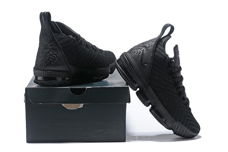huge selection of 2b0b3 e08b2 Nike LeBron 16 Triple Black Men's Basketball Shoes NIKE-ST004176