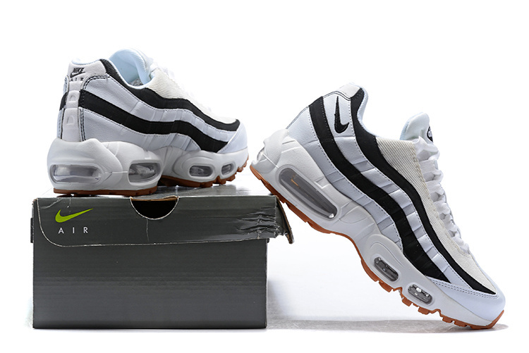 check out 0cbd8 24737 Nike Air Max 95 Juventus White Gum Light Brown Black 307960 112 Women's  Men's Casual Shoes 307960-112