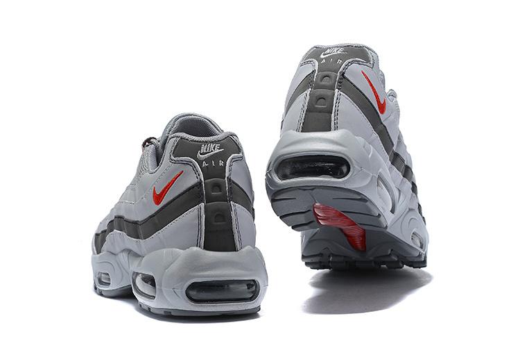 Nike Air Max 95 Silver Red Silver Bullet AQ9972 001 Men's Casual Shoes AQ9972 001