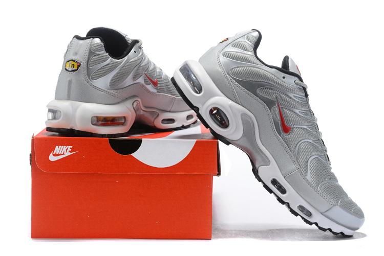 sale retailer 5b901 2f3f5 Nike Air Max Plus SE Black Silver Red White Men's Running Shoes  NIKE-ST004231