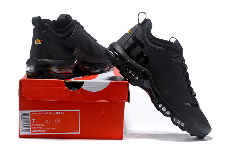 cheap for discount f981e 37c88 Nike Air Max Plus Mercurial TN Triple Black AQ0242 001 Womens Mens Running  Shoes AQ0242-001A