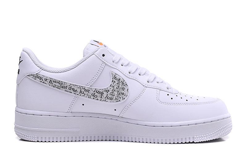 5bc22214c0 Nike Air Force 1 '07 Just Do It Pack White Black Total Orange BQ5361 100