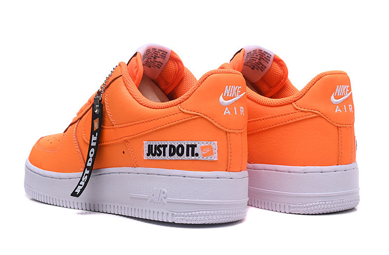 huge discount 183a7 3097a Nike Air Force 1 Low Just Do It Total Orange White Black BQ5360 800 Womens  Mens