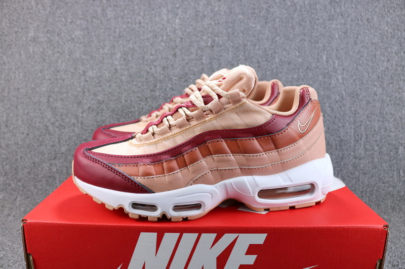 3693d85af99 NIKE AIR MAX 95 HAL Wine Red Bare Pink White 807443 601 Women s ...