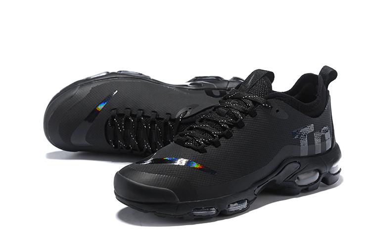 cheap for discount 6c7e4 9ad54 Nike Air Max Plus Mercurial TN Triple Black AQ0242 001 Womens Mens Running  Shoes AQ0242-001A