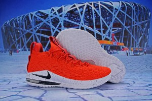 54750eed88ab Nike Lebron 15 Low University Red White Black AO1756 601 James Men s  Basketball Shoes