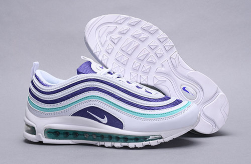 Nike Air Max 97 Ultra 2017 SE WhiteCourt PurpleEmerald Green AH6806 102 Women's Casual Shoes AH6806 102A