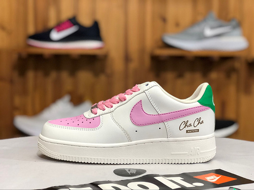 d03f71c22411 NIKE AIR FORCE 1 AF1 Cha Cha Matcha Sail Arctic Pink Green CM4017 130  Women s Sneakers