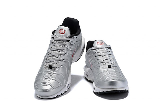 low priced b649a 5d324 Mens Nike Air Max Plus SE TN Metal Silver Red Males Running Shoes  NIKE-ST004887