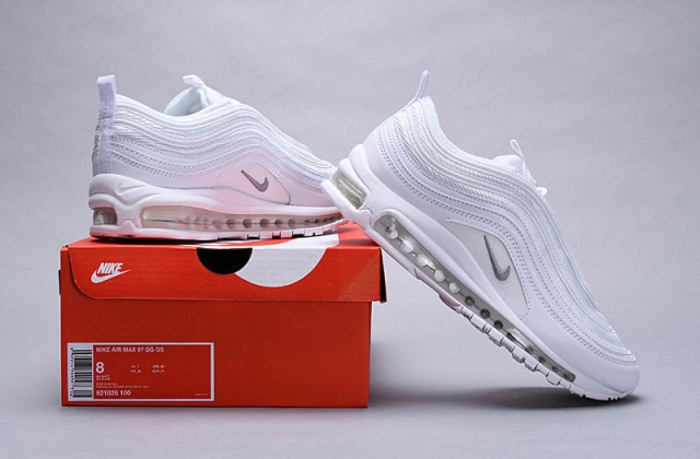 Nike Air Max 97 White Snakeskin Summit White 921826 100 Women's Men's Casual Shoes 921826 100A