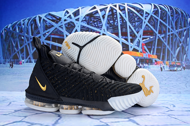 f06931d0d7f Off White Nike LeBron 16 EP Black Gold White AO2588 055 Men s Basketball  Shoes