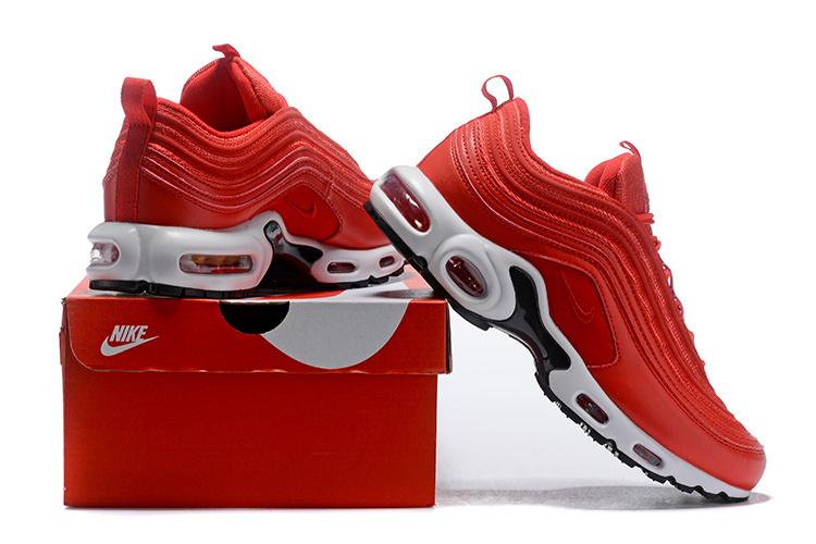 official photos 2a92b 21c8e Nike Air Max 97 Plus TN Red White Men's Running Shoes NIKE-ST004678