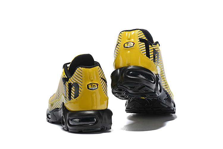 the latest f7f1d 5dc36 Men's Nike Mercurial TN Air Max Plus Yellow Black White Running Shoes  NIKE-ST004732