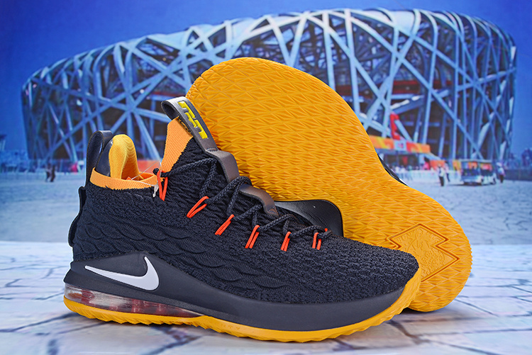 f0c5f93e3a5aa Nike LeBron 15 Low Obsidian Yellow White AO1756 010 James Men s Basketball  Shoes