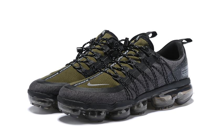 Good Production Line Nike Air VaporMax Run Utility Triple Black Mens Running Shoes NIKE013188