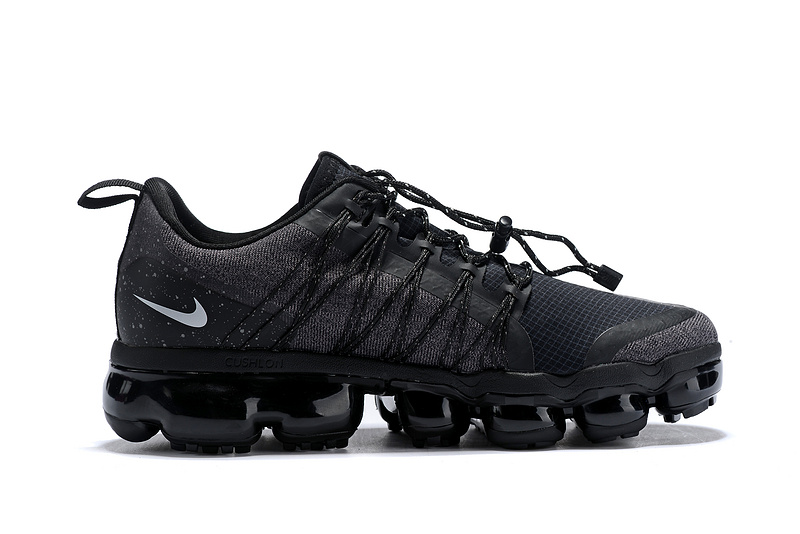 dc2d5cd7f02 Nike Air VaporMax Run FlyKnit Utility Triple Black Men s Running Shoes