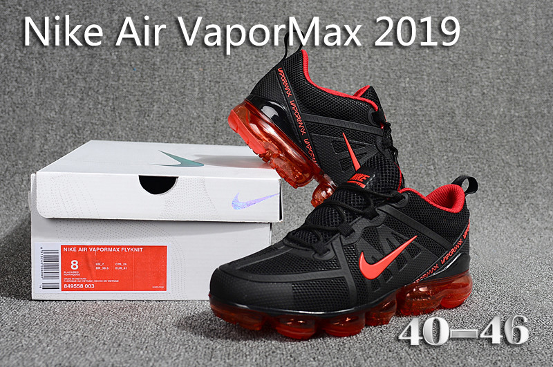 official photos 77e05 0a7f7 Nike Air VaporMax 2019 KPU Black Red 849558 003 Men's Running Shoes  849558-003d
