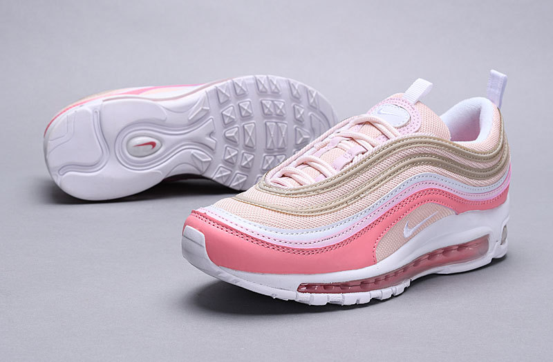 Nike Air Max 97 Premium Particle Beige & Summit White 312834 200 Women's Casual Shoes 312834 200a