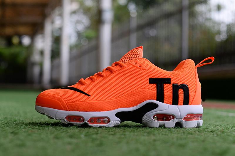 a371c760d36435 Mens Nike Mercurial Air Max Plus Tn TPU Orange Black White Running ...