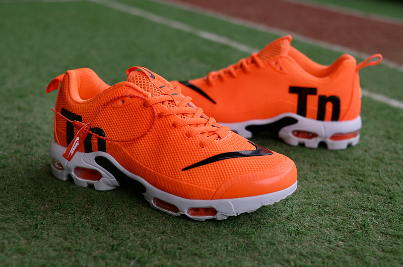 65ea7a619af Mens Nike Mercurial Air Max Plus Tn TPU Orange Black White Running Shoes