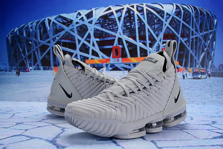 98f798afe18 Off White Nike LeBron 16 EP Wolf Grey Black AO2588 060 Men s Basketball  Shoes