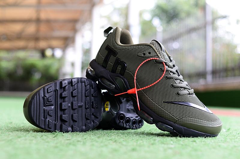 buy popular 28977 07be0 Mens Nike Mercurial Air Max Plus Tn TPU Olive Green Black Running Shoes