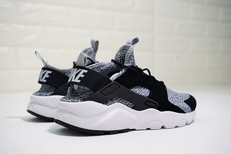 7a2acf388b1 Nike Air Huarache Ultra Flyknit ID Black Grey   White AH6758-002 Men s  Women s