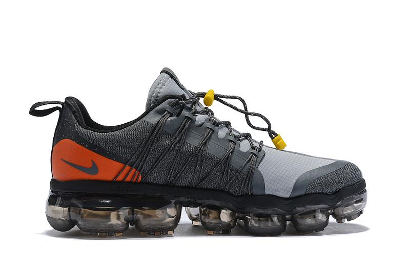 c56b979dcd Nike Air VaporMax Run FlyKnit Utility Charcoal Gray Orange Men's Running  Shoes