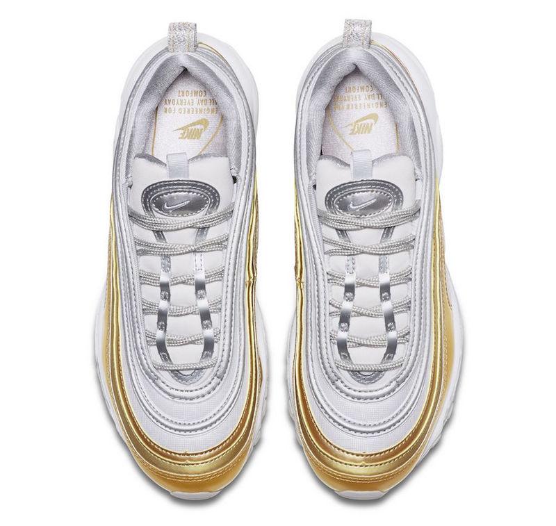 los angeles 6504c 0ad7f Nike Air Max 97 Vast Grey Metallic Silver-Metallic Gold AQ4137 001 Women s  Men s