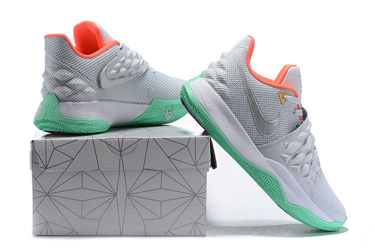 size 40 5ae1e a7cd4 Nike Kyrie Low Cool Grey Green Pink Men's Basketball Shoes NIKE-ST004717