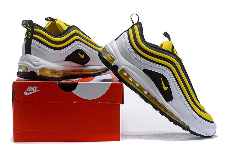 a6e8228b Nike Air Max 97 Ultra SE White Black Yellow Men's Casual Shoes NIKE-ST004876