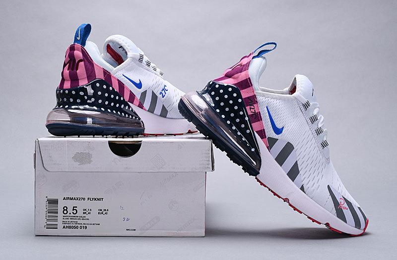 bb1e69c7382 Piet Parra x Nike Air Max 270 White Multi-Color AH8050 019 Women s Men s