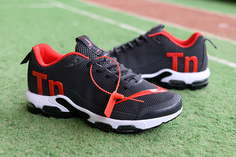 8961663fb63 Mens Nike Mercurial Air Max Plus Tn TPU Charcoal Gray Red White Running  Shoes