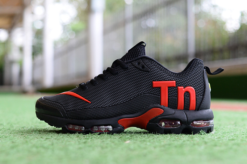 huge selection of 8b5da f4fc3 Mens Womens Nike Mercurial Air Max Plus Tn TPU Black Red Running Shoes  NIKE-ST004662