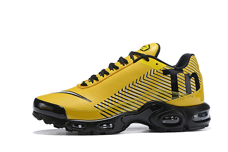 the latest fe213 b6689 Men's Nike Mercurial TN Air Max Plus Yellow Black White Running Shoes  NIKE-ST004732