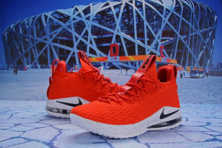 sports shoes af6ed 1f8f8 Nike Lebron 15 Low University Red White Black AO1756 601 James Men's  Basketball Shoes AO1756-601