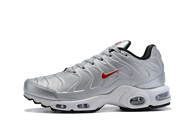low priced 246d0 0f437 Mens Nike Air Max Plus SE TN Metal Silver Red Males Running Shoes  NIKE-ST004887